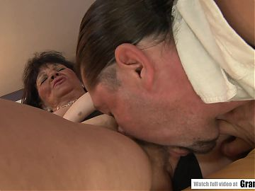 Titty fucked at age 65 - Helena May